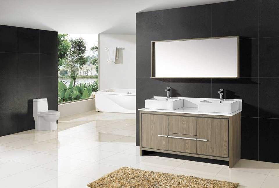 Unusual Beautiful Bathrooms With Shower Curtains Thin Bathroom Door Latch India Flat Build Your Own Bathroom Vanity Cheap Bathroom Installation Falkirk Young Wash Basin Designs For Small Bathrooms In India WhiteWaterfall Double Sink Bathroom Vanity Set 60 Bathroom Vanity Double Sink   Delonho