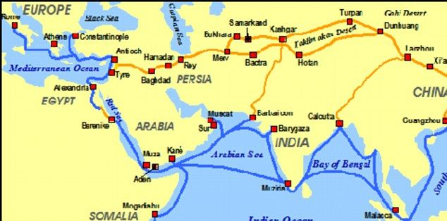map of trade routes used on the silk road – Road Route Map