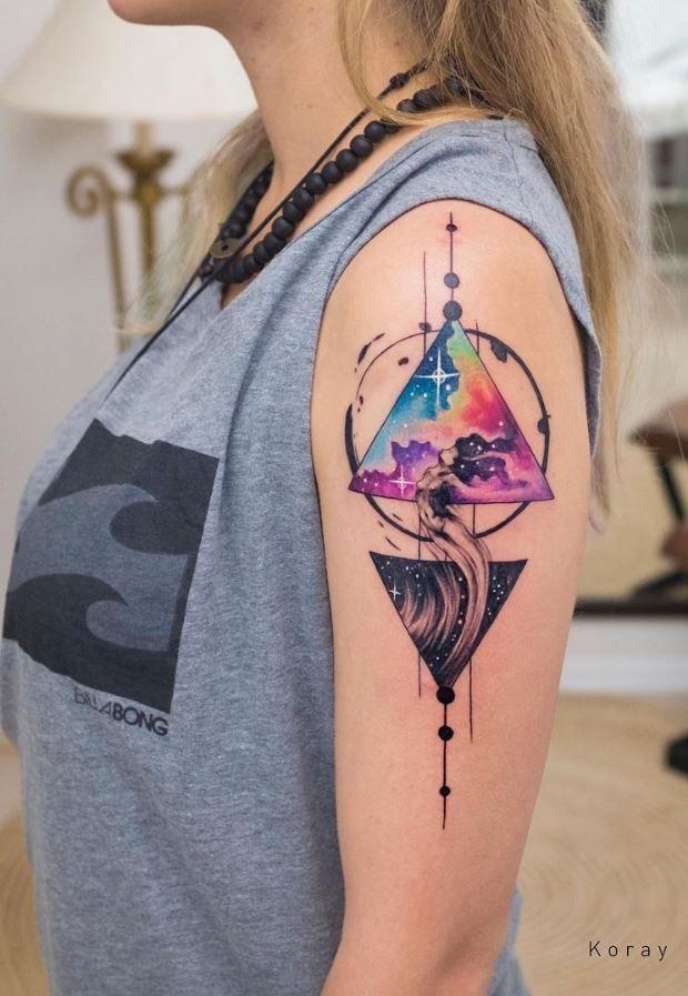 Photo of 40 magnifiques tatouages à l'aquarelle – Tatouages - #Tatouages à l'aquarelle #Tat …