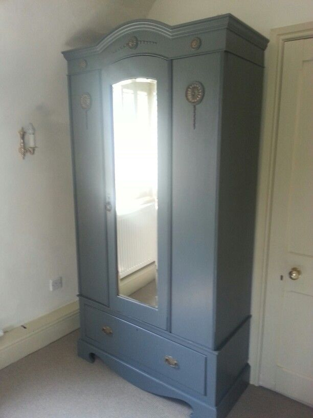 Upcycled Victorian Wardrobe In Downpipe By Farrow And Ball