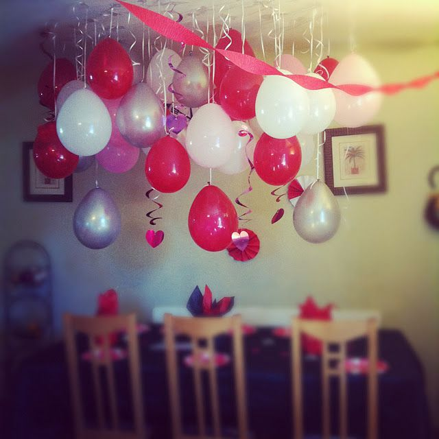 Pink and red birthday party for my sisters 13th Bday Lets Party