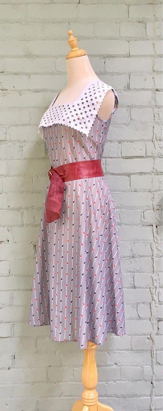 Vintage s gray pattern pinafore dress style pinterest grey