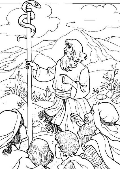 Desenhos para colorir e pintar: Moisés e Josué