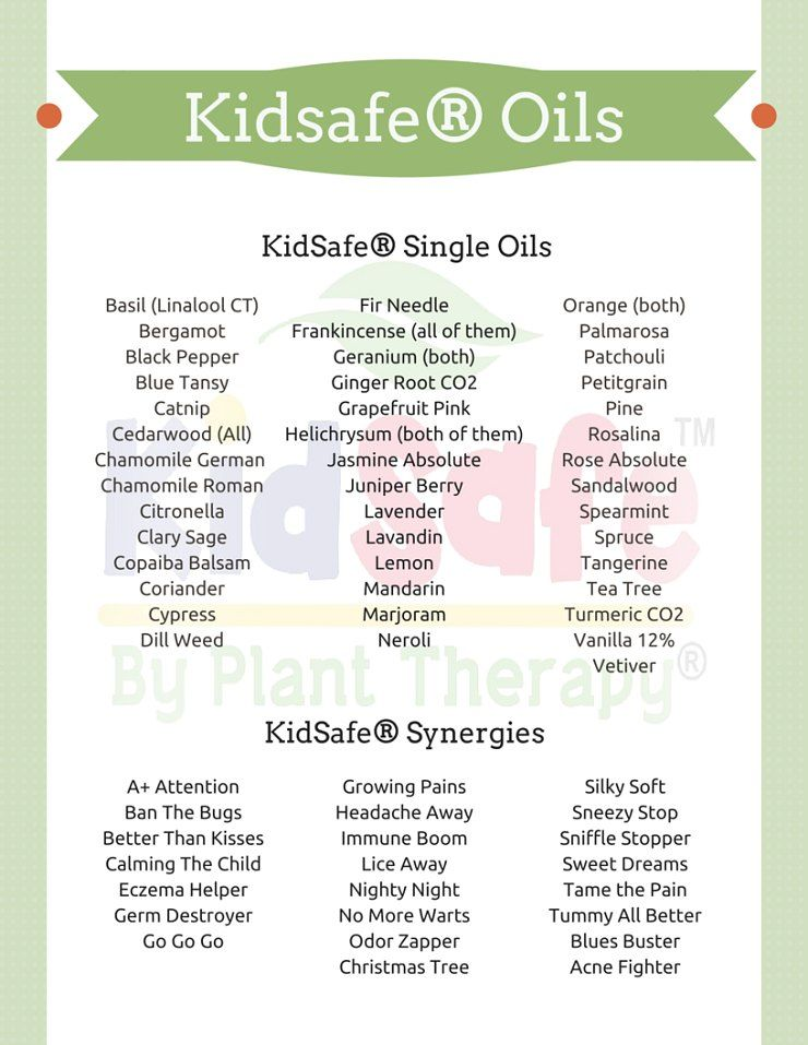 What Essential Oils Are Safe For Kids And Where Can I