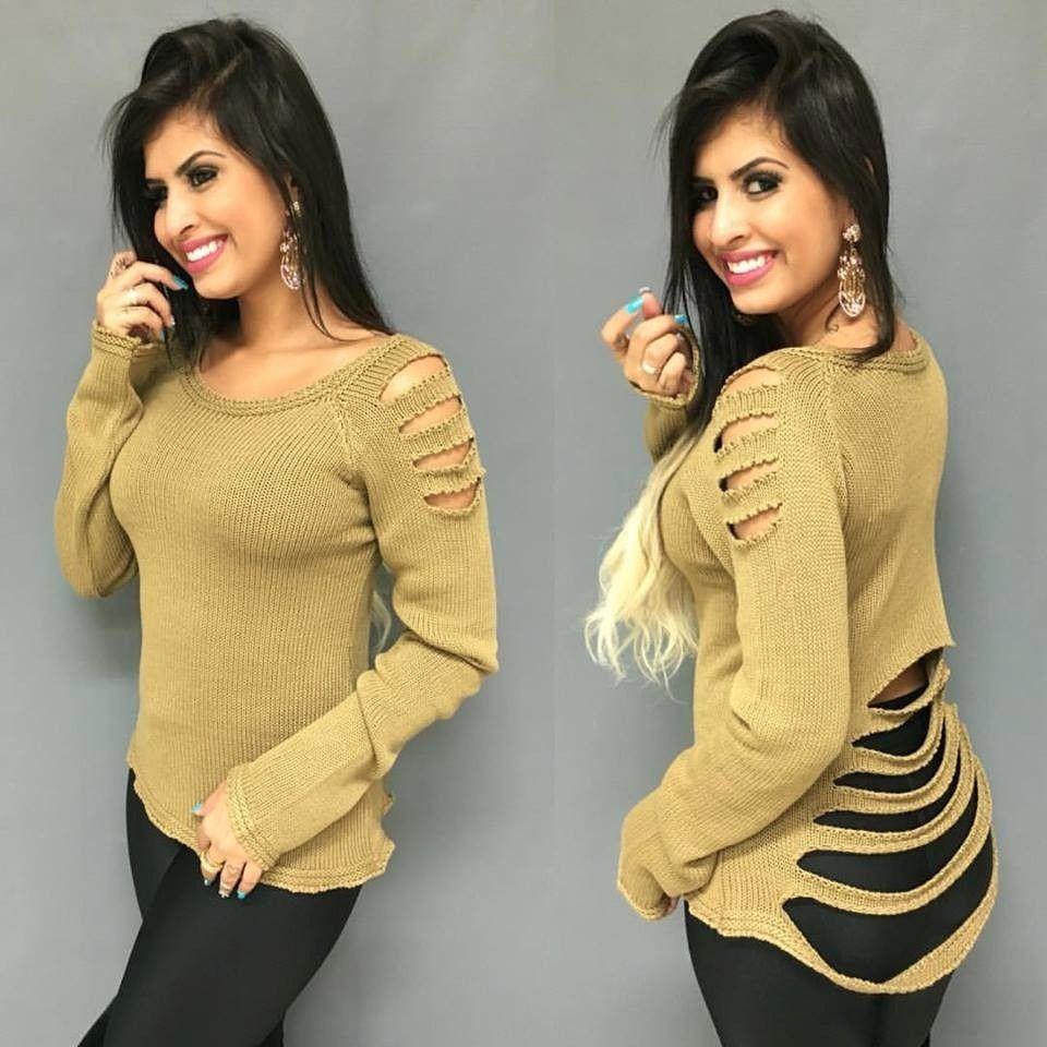 Resultado de imagem para blusas de lã femininas