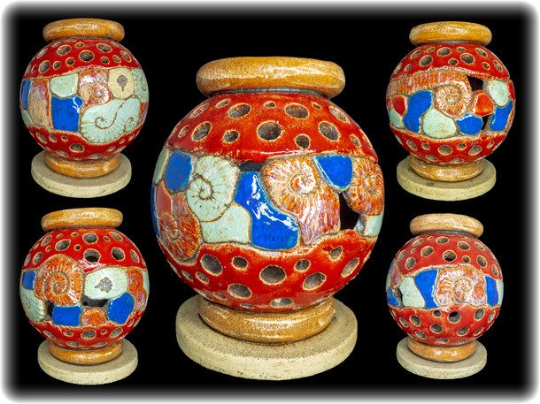 Lichtstele aus Keramik gefertigt von Keramikkunst.bayern