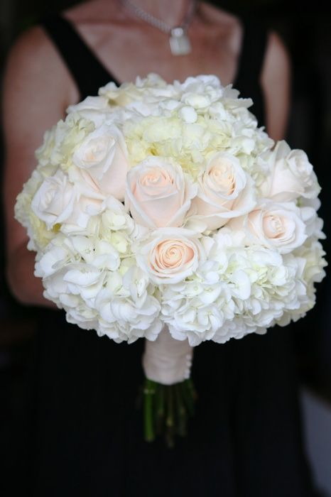 classic white and blush pink wedding bouquet. designed using white