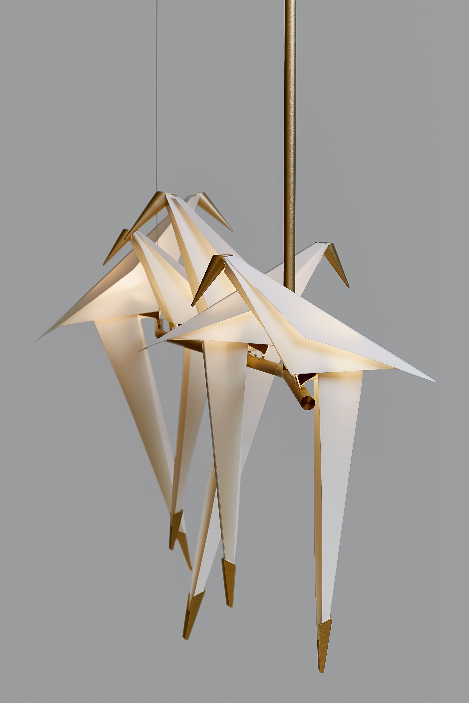 Suspension Perch Light Branch Led Moooi Blanc Or Metal Made In Design Eclairage De Ferme Mobiles Suspendus Lustre Ancien