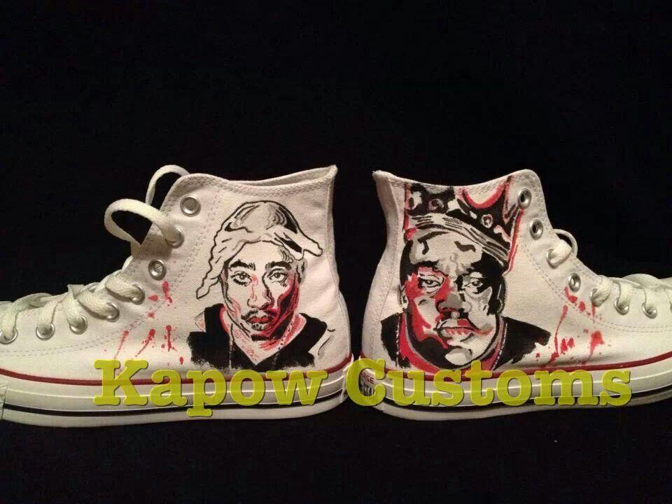 0598330cfa6c6 Tupac and Biggie custom converse | Converse Sneakers | Custom shoes ...