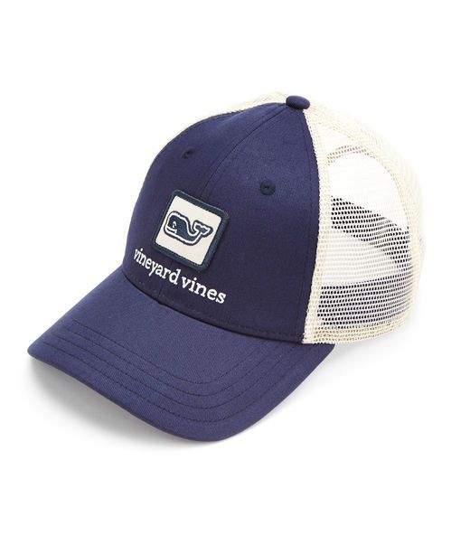 889bb29842e Shop Whale Patch Trucker Hat at vineyard vines