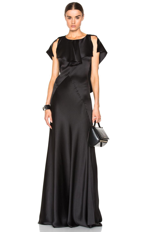 Silk satin gown nice long gowns pinterest satin gown silk