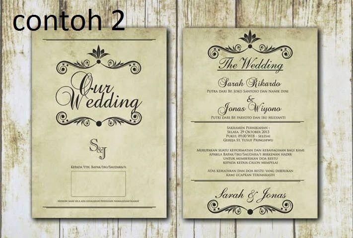 contoh undangan pernikahan unik dan elegan contoh undangan