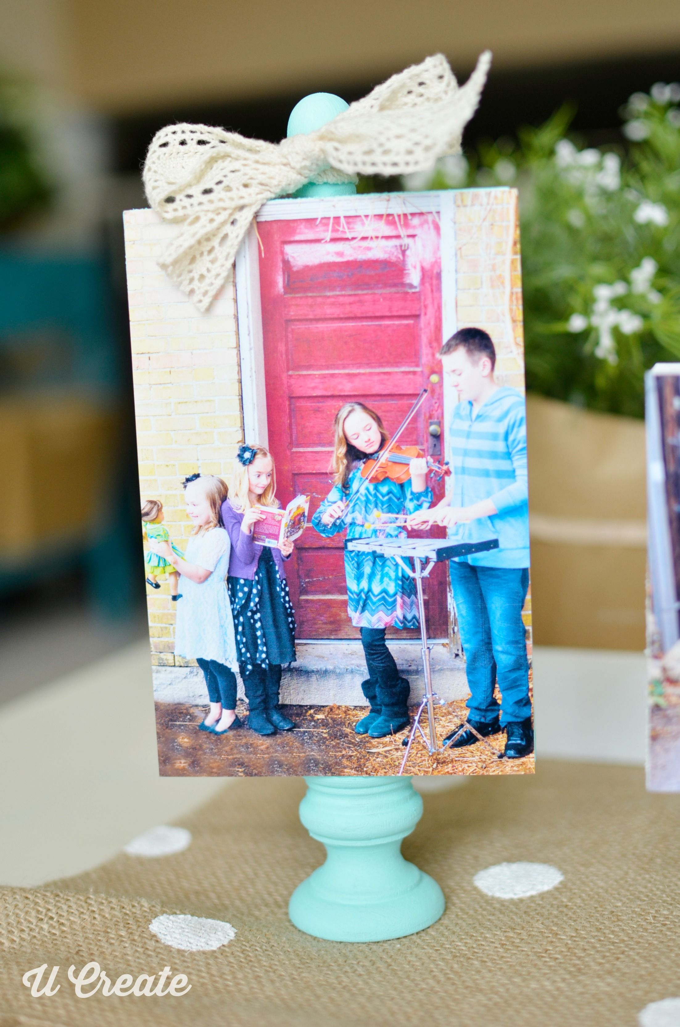 wooden block frame tutorial gift idea by u create