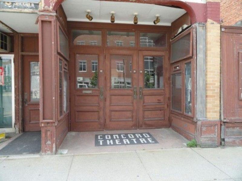 Concord Theatre Entrance New Hampshire Movie Theater Concorde Old