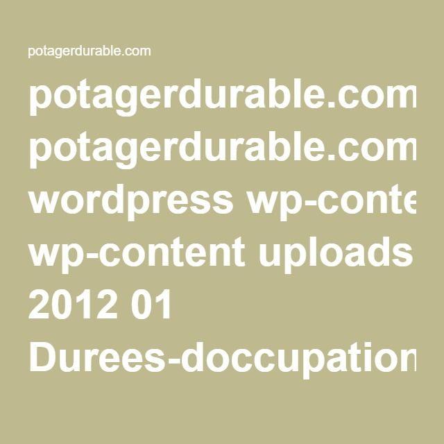 potagerdurable.com wordpress wp-content uploads 2012 01 Durees-doccupation_Mini-guide-PotagerDurable.pdf