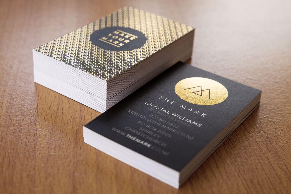The Mark Business Card Design Black Print With Gold Foil Www Themark Co Nz Graphic Design Photography Card Design Business Card Design