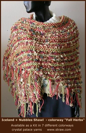 Free Shawl Knitting Pattern Nubbles Iceland Shawl Crystal