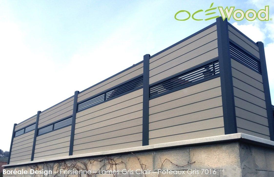palissade lames composite oc wood lames persiennes aluminium bor ale design cl tures. Black Bedroom Furniture Sets. Home Design Ideas