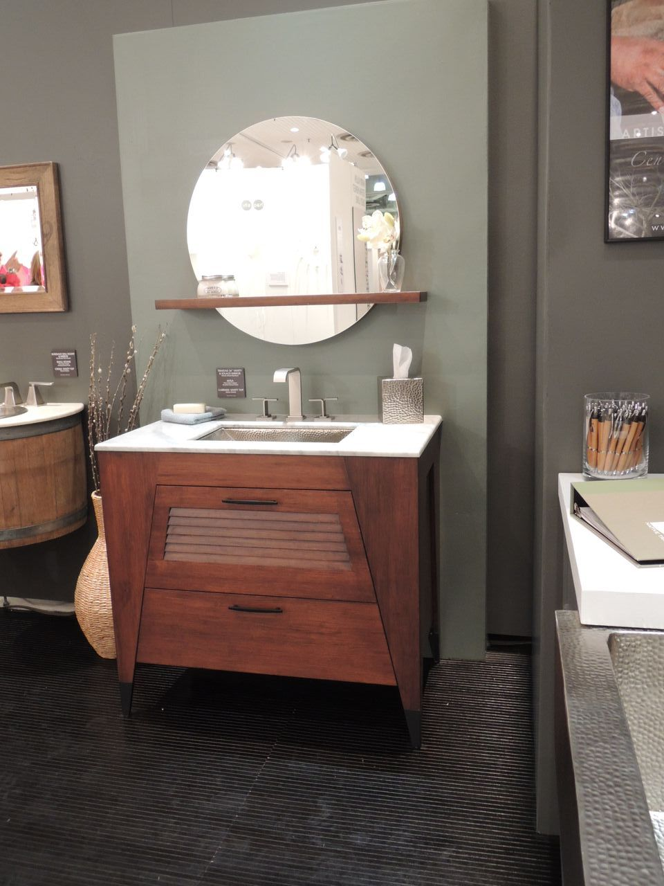 Graff Immersion Faucet Paired With Native Trails Trinidad Vanity