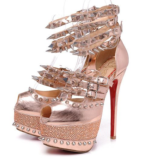 bb15f78078a Christian Louboutin Isolde 160mm Copper Spiked 20th Anniversary ...