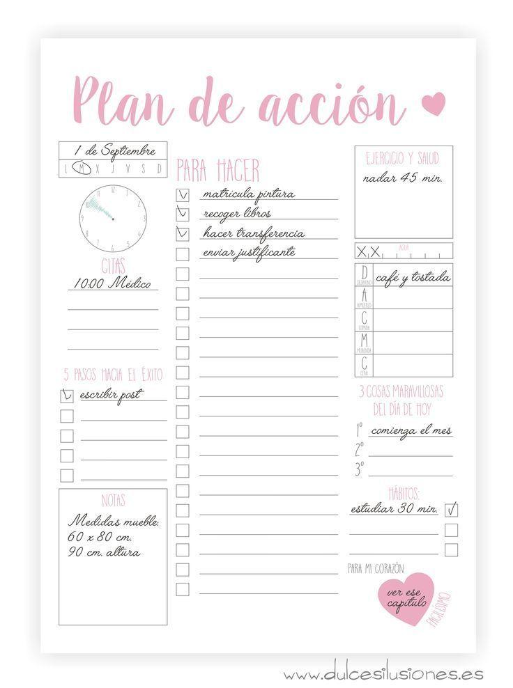 Plan de acci n para organizar tus d as agendas for Planner casa gratis