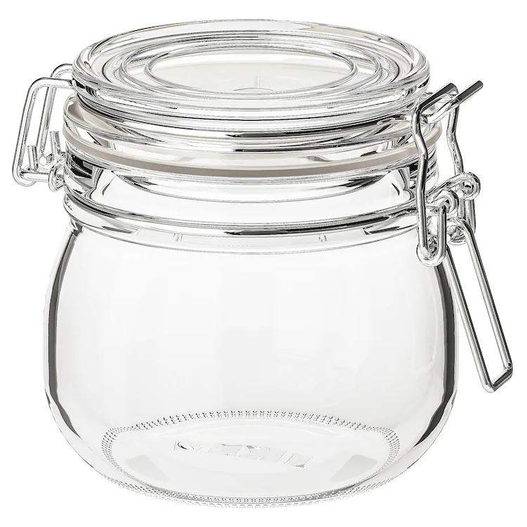 IKEA KORKEN Clear Glass Jar with lid