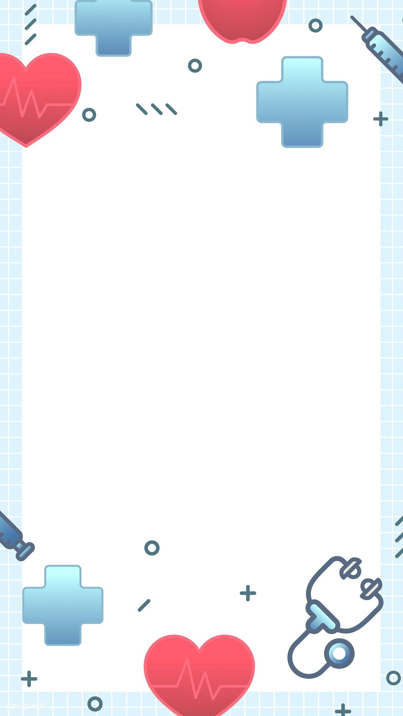 Doctor And Hospital Themed Phone Background Vector Premium Image By Rawpixel Com Kappy Kappy Di 2020 Desain Pamflet Kreatif Kertas Dinding