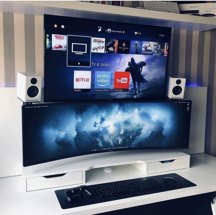 Pc Plus Ps4 Gamerroom Diy In 2019 Gaming Room Setup