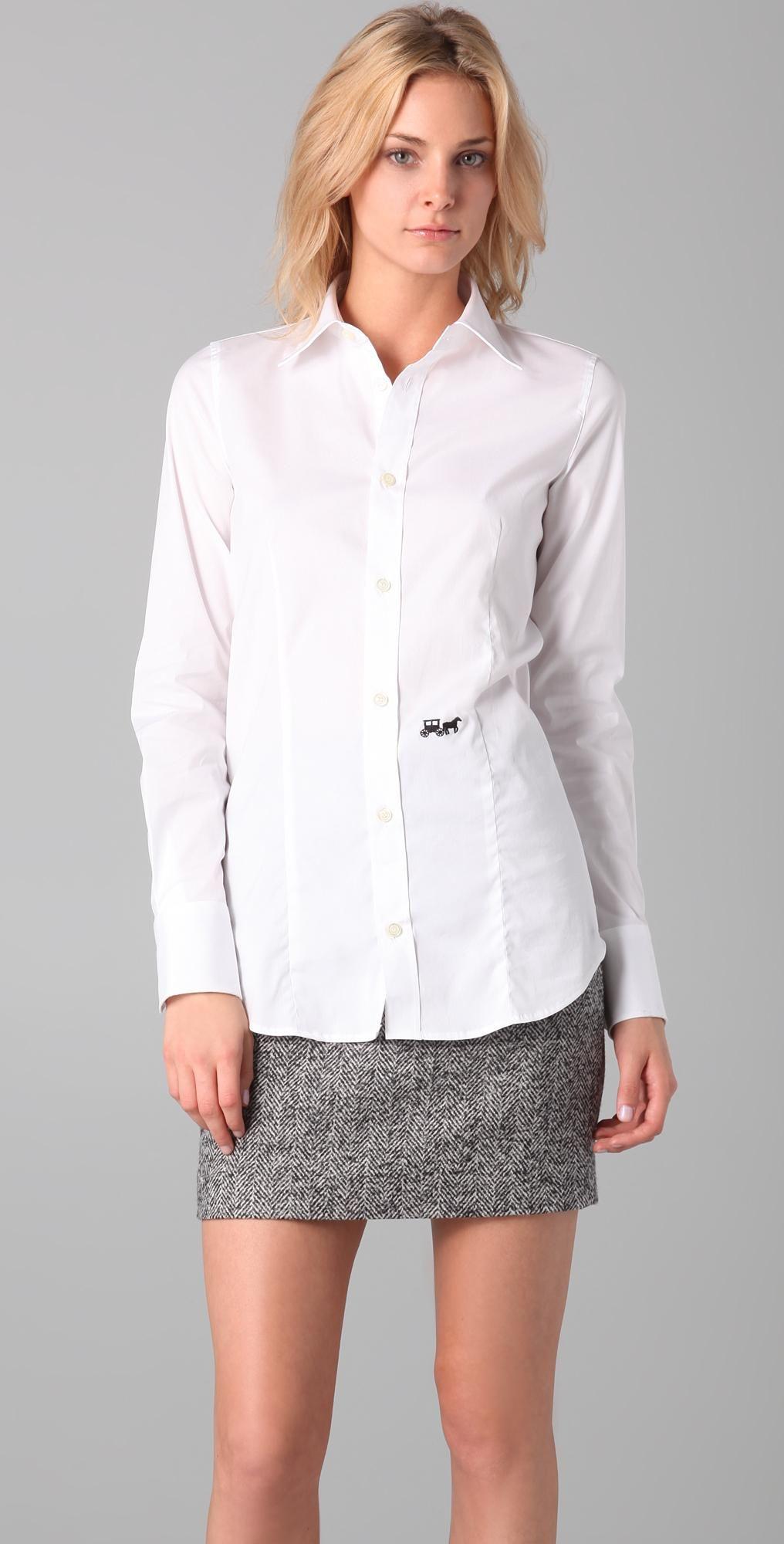 Dsquared2 white classic poplin shirt buttondown top size