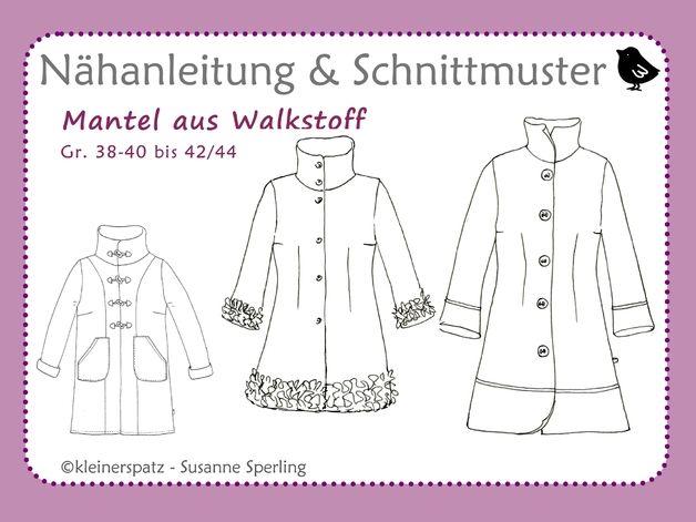 Schnittmuster, ebook, Mantel aus Walk, Jacke   Mantels