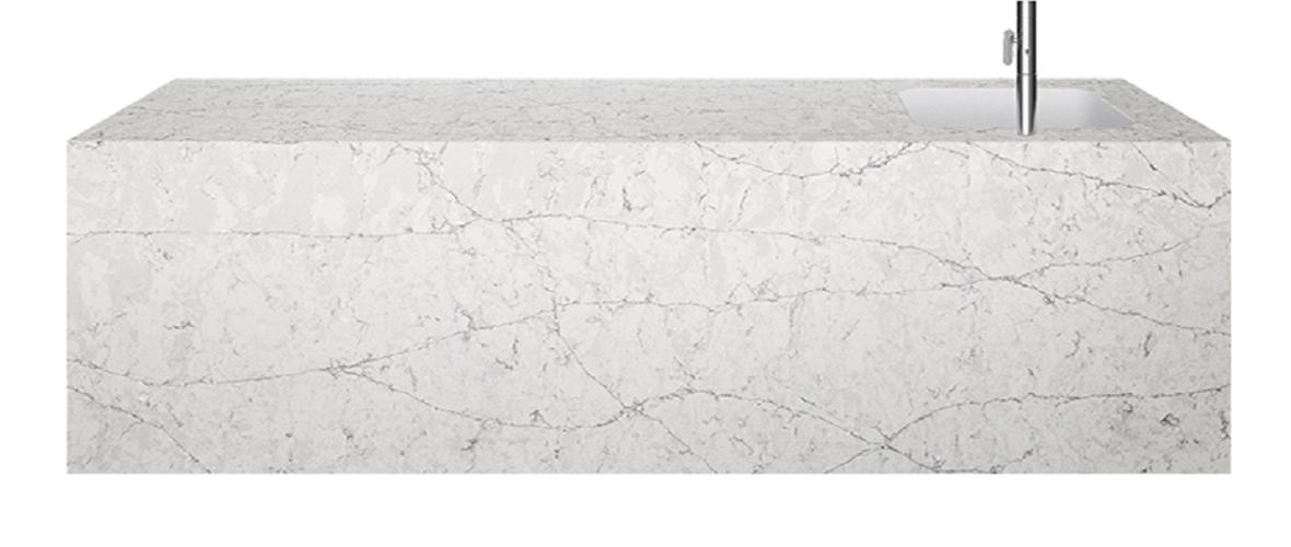 Silestone Eternal Pearl Jasmine Quartz Bath Cladding