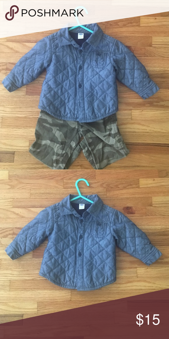 46a4d1803 Jacket Cute boys quilted Jean color jacket. This listing is for jacket only.  100% cotton Old Navy Jackets & Coats
