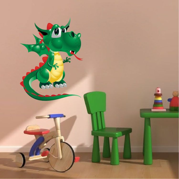 Kids Dragon Wall Decal   Nursery Wall Decal Murals   Primedecals
