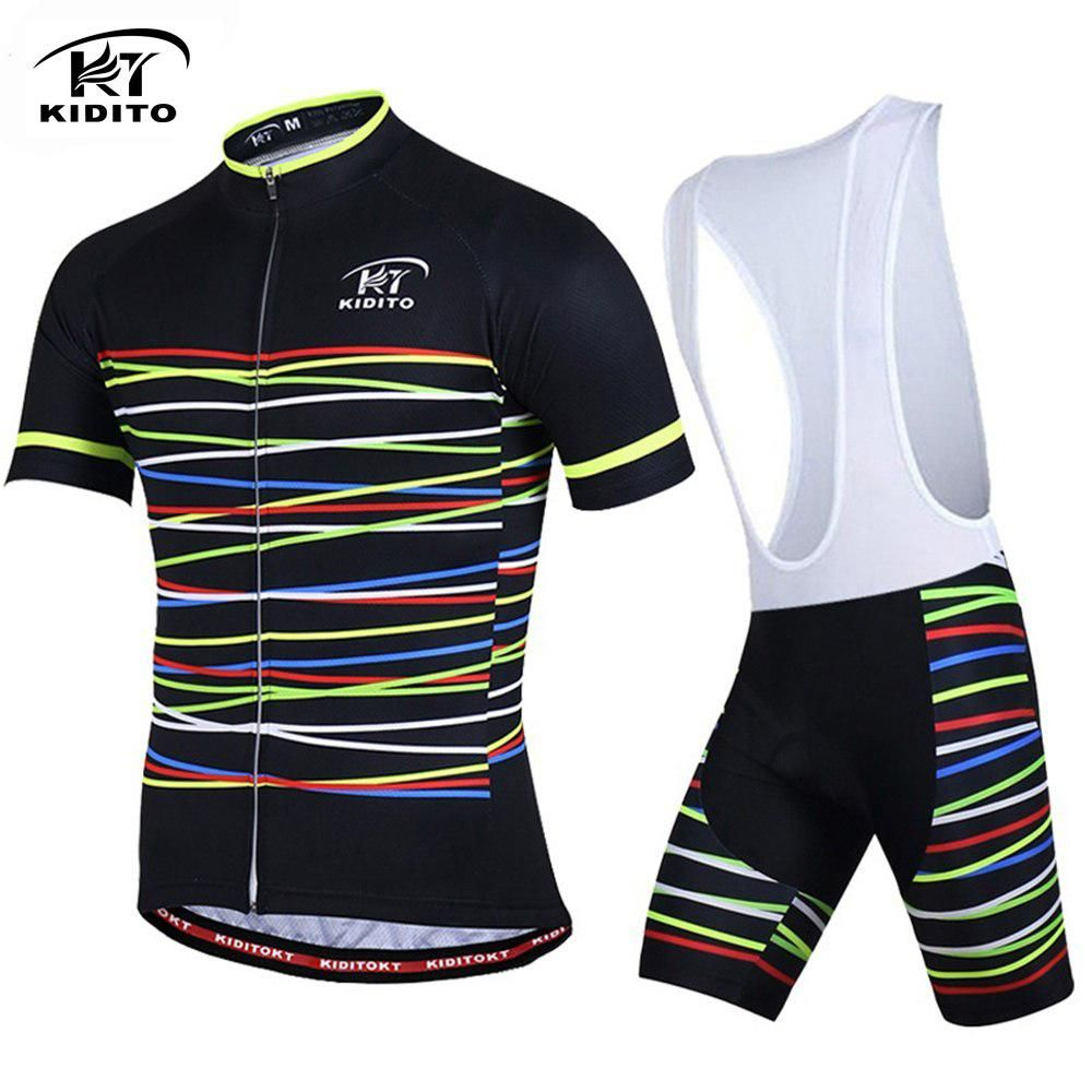 KIDITOKT 2018 Bicycle Clothing Sets Men Short Sleeve Cycling Jerseys MTB  Racing Road Bib Shorts Suit 3D GEL Pad Ropa Ciclismo. Yesterday s price  US   29.99 ... 725f0001f