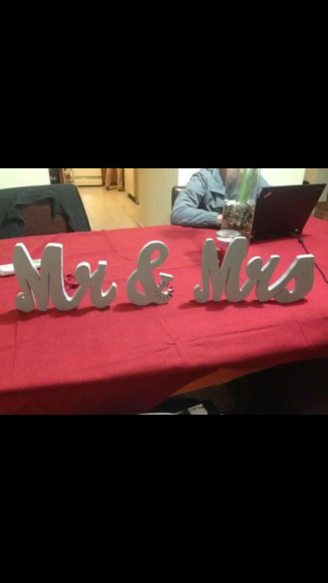 Letreros para la mesa