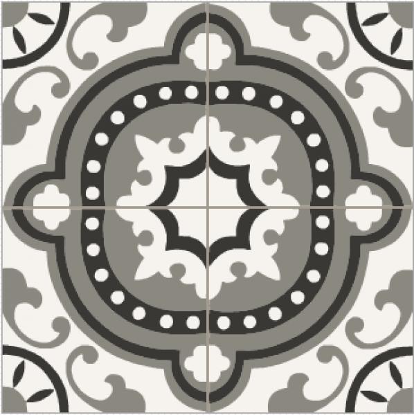 Carrelage ciment baroque noir blanc et gris carreaux ciment pinterest - Carrelage ciment noir et blanc ...