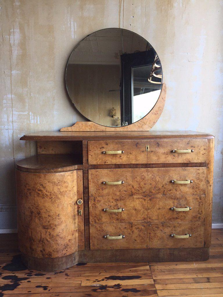 Italian Art Deco Dresser With Mirror Art Deco Dresser Art Deco Interior Art Deco Home