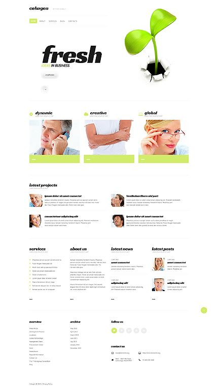 Public Relations Responsive Website Template Business website - business timeline template