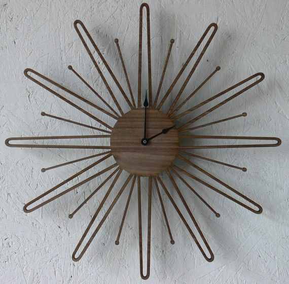 mid-century inspired clock