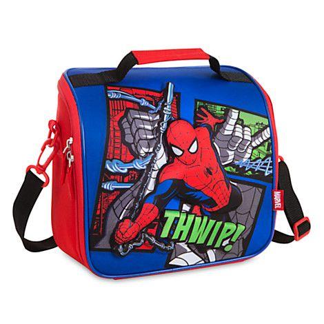 Disney Store Spiderman Super Hero Lunch Box Tote School Bag Boys Gift NEW