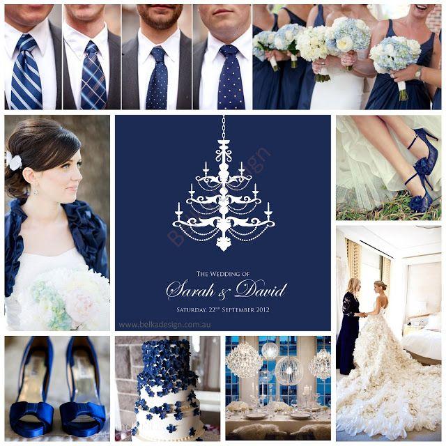 Wedding Theme - Royal Navy Blue. Wedding Invitation by Belka Design ...