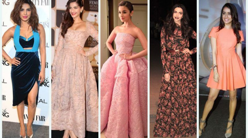 Bollywood Actress Inspired Western Dresses