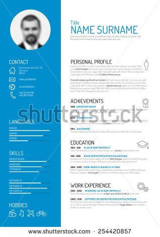 Vector minimalist cv / resume template | creative | prints ...