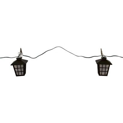 Target Solar String Lights $38  Target Solar Panel On A Separate Stake At End Of String