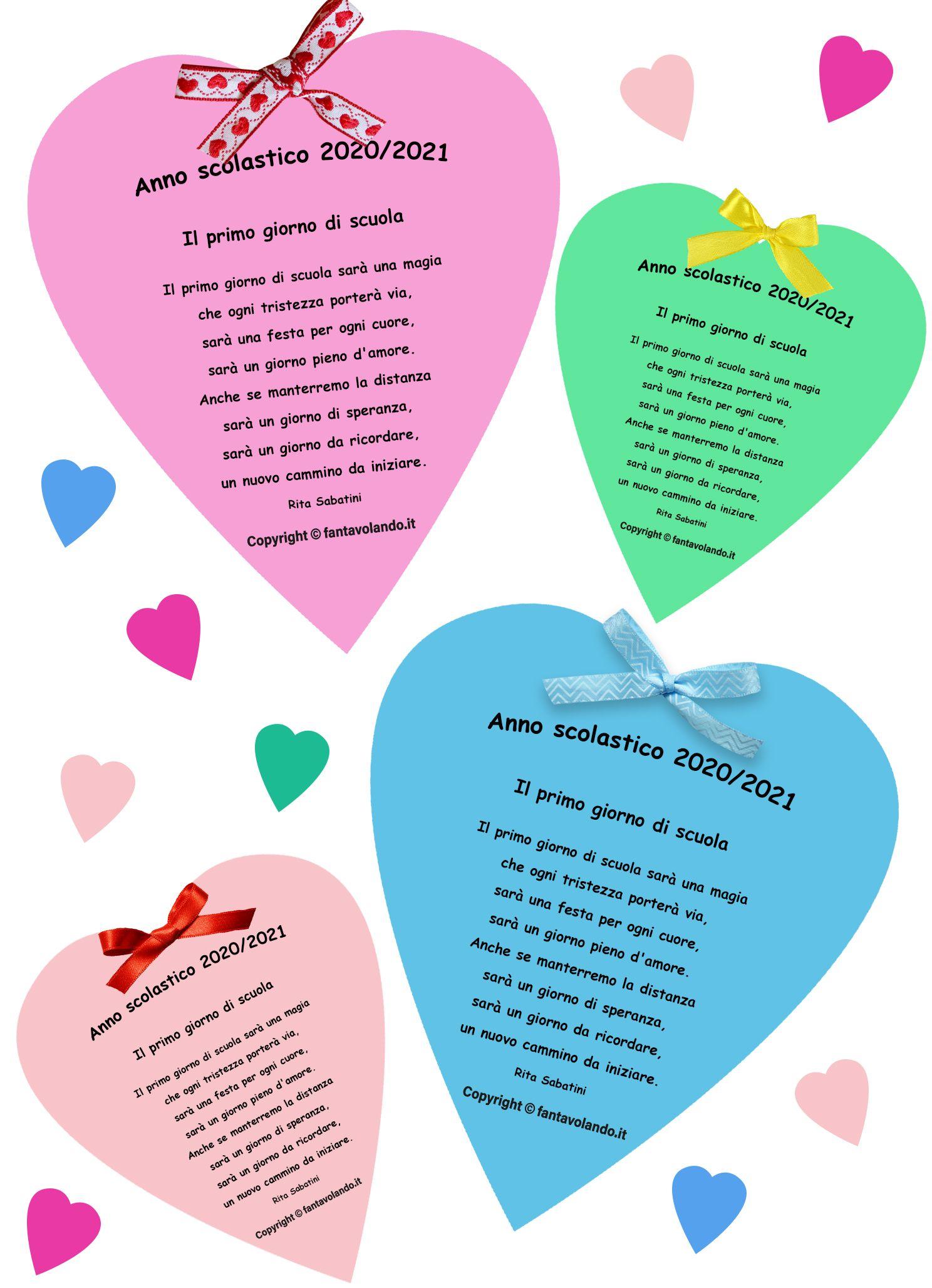 Il primo giorno di scuola (poesia per l'accoglienza) nel 2020 | Primo  giorno di scuola, Idee per insegnanti, Scuola