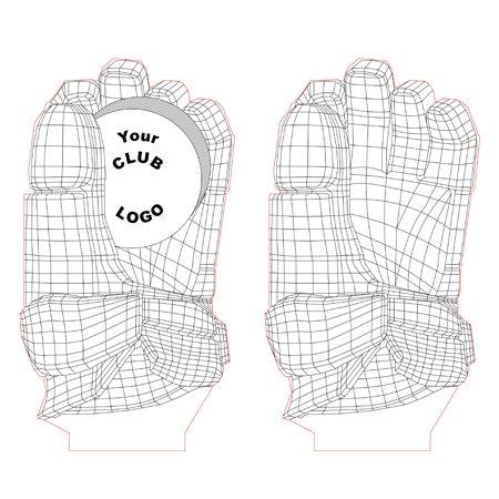 Hockey Glove 3d Illusion Light Plan Vector File For Cnc 3bee Studio Estudio