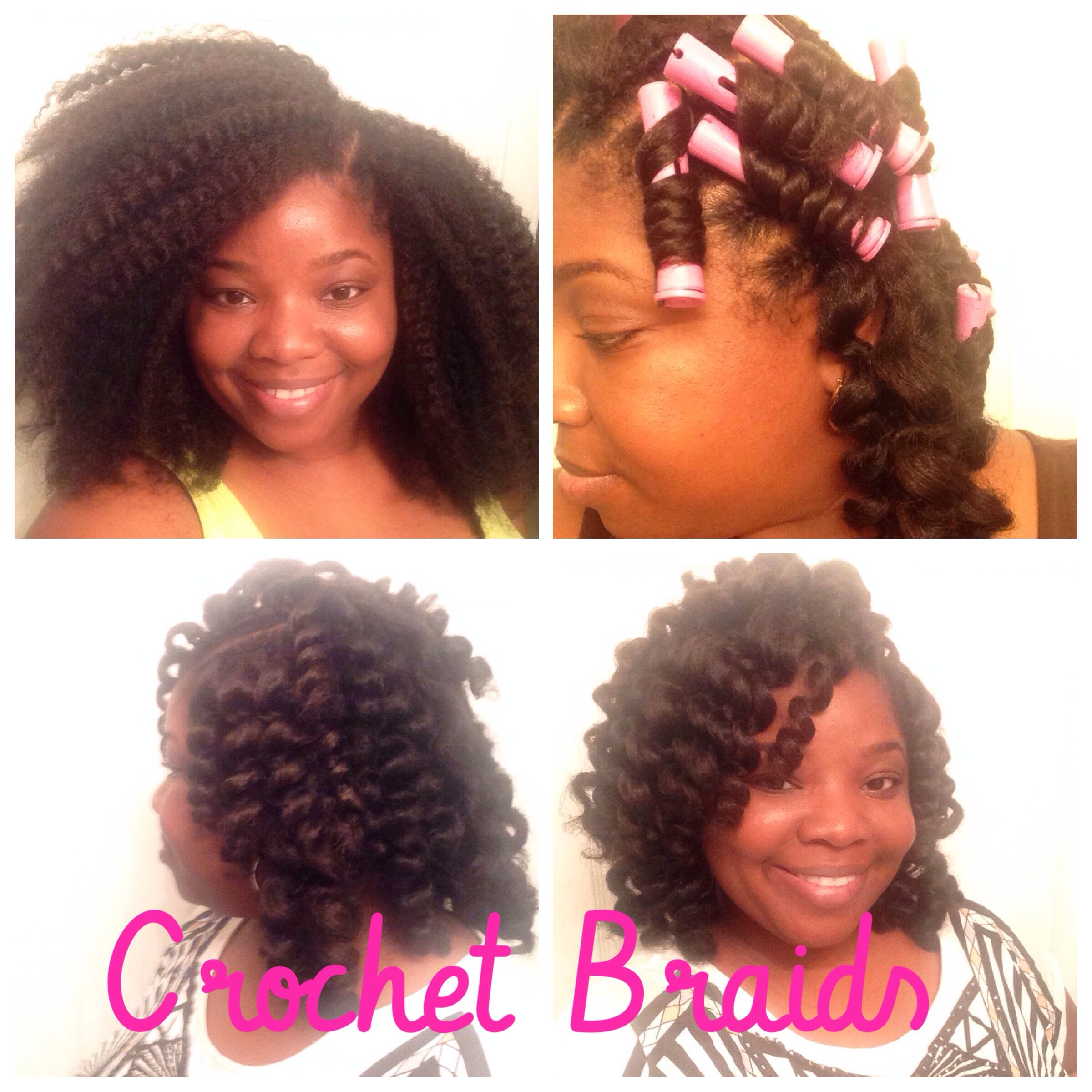 Crochet Braids W Marley Hair Pictorial I Used 3 Bags Of Janet Noir