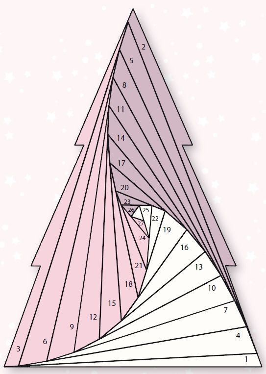 Iris Folded Christmas Tree Iris Folding Pattern Iris Folding Iris Paper Folding