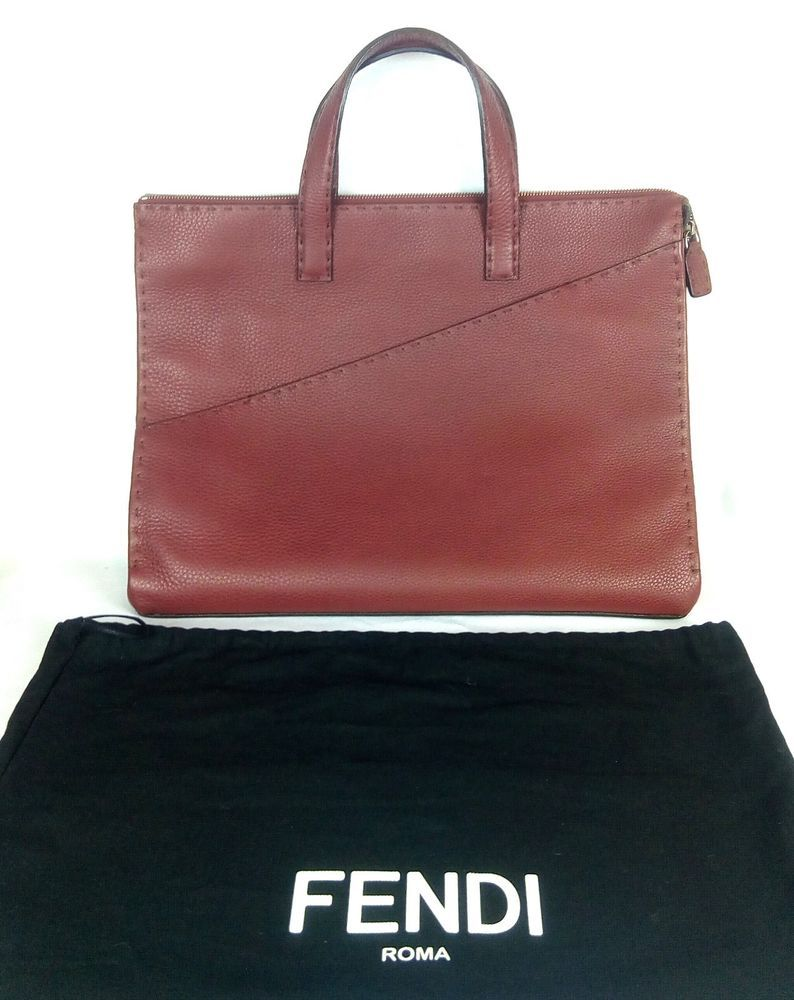 2b4565b67ae5 100% Authentic FENDI Leather Selleria Lavorazione A Mano 1925 Tote Hand Bag  NEW  Fendi  Tote