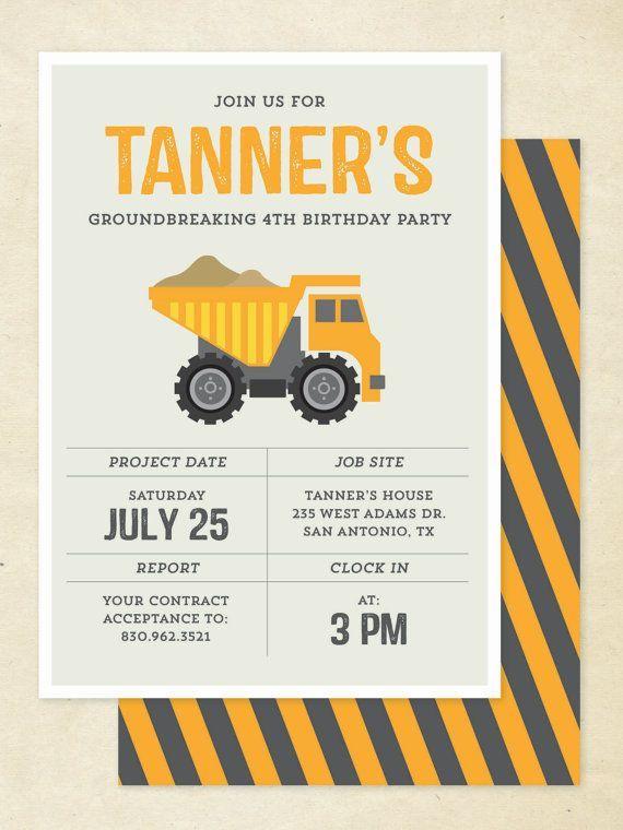 Construction Birthday Invitation Construction by goodmancodesign